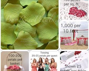 500 Apple Silk Rose Petals - Rose Petals for Weddings- Artificial Rose Petals
