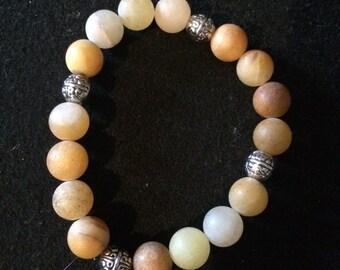 Yellow Jade Gemstone Bracelet