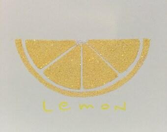 Glitter Lemon