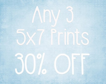 5x7 Prints - Choose any 3 ColorPopPhotoShop Fine Art Photographs