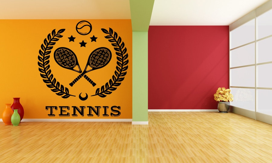 Tennis Wall Mural Decal by RoomDecalsAndDesigns