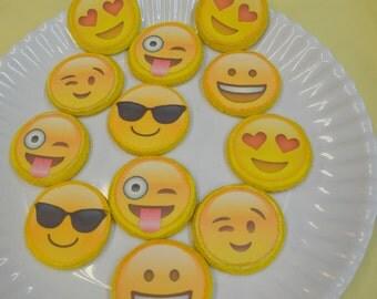 Emoji Cookies, Emoji Face Cookies, Shortbread Cookies, Emoji, Funny Face Cookies, Cool Face Emoji, Custom Cookies, Gourmet Cookies, Handmade