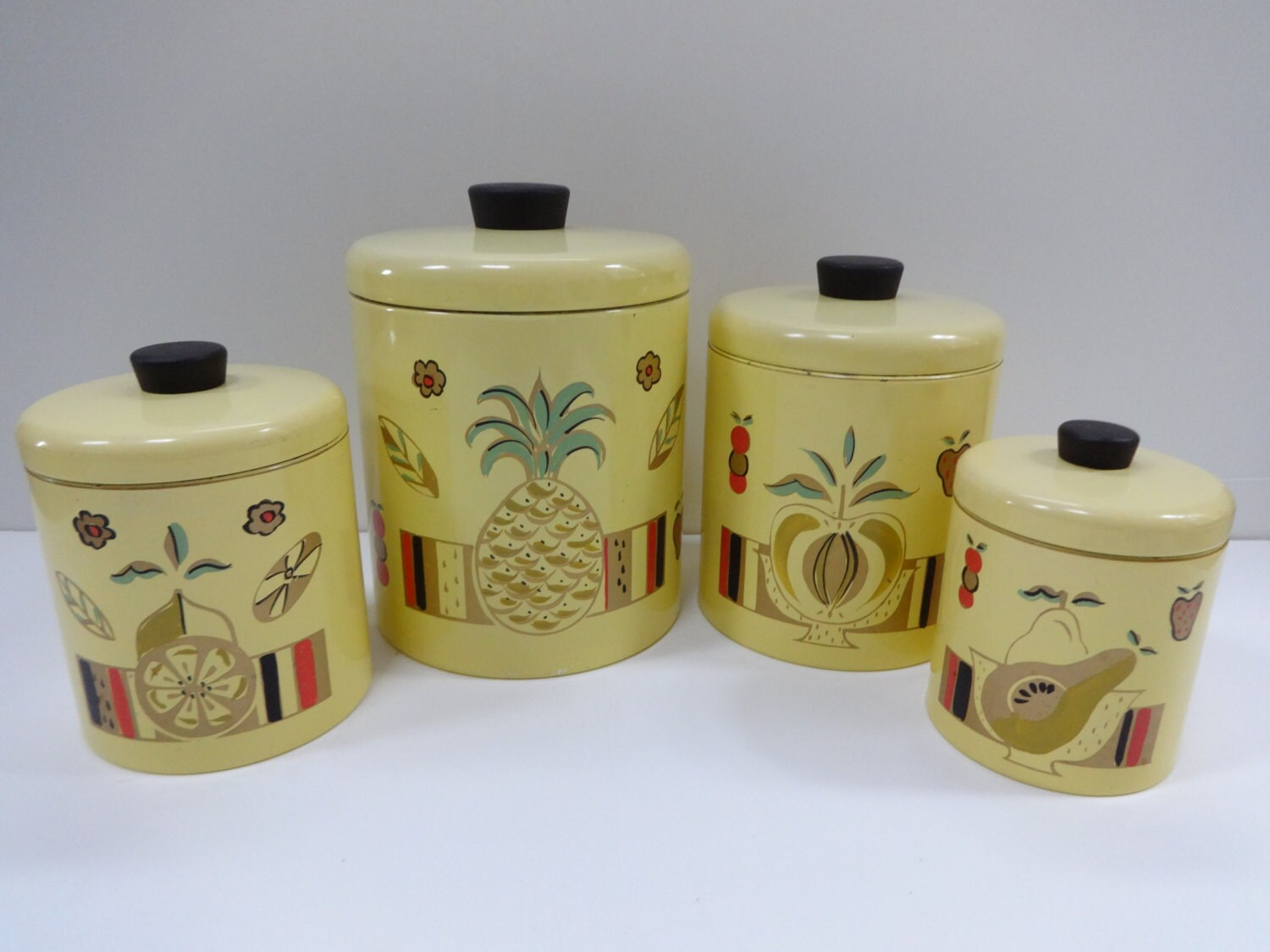 canister set metal canister set yellow canister set