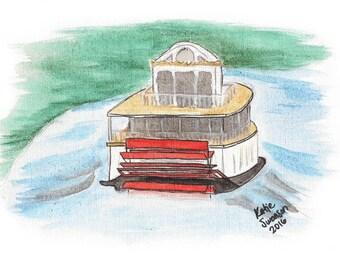 Original Painting: Riverboat