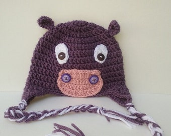 Infant hand crafted, crocheted, hipo hat.
