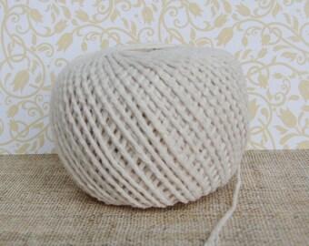 Cream, Ivory Cotton Twine - 10, 20 Yards