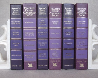 Decorative Vintage Set of Reader's Digest Books in Purple