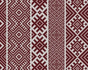 FREE SHIPPING Kilim Pattern Decorative PVC Vinyl Mat Linoleum Rug    Bordeaux K 112