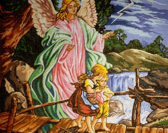 "Gobelin Tapestry Needlepoint Kit ""Angel""  printed canvas 145"