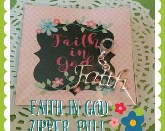Faith in God, zipper pull, LDS Faith in God award, Faith charm, Faith