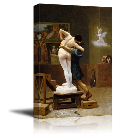 Pygmalion And Galatea By Jean Leon Gerome Canvas Print Wall