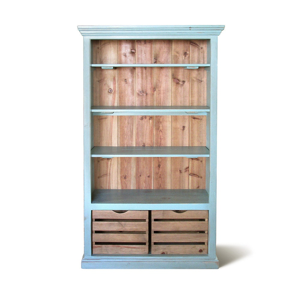 Recycled Wood Bookcase ~ Bookcase display cabinet bookshelves reclaimed wood
