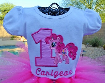 Personalized Pinkie Pie Birthday shirt only.
