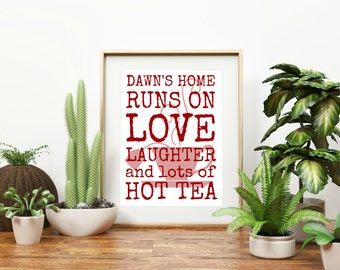 "Personalized ""Home Runs On Hot Tea/Coffee"""