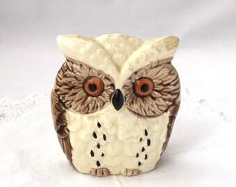 ON SALE OWL Napkin Holder ceramic owl napkin or letter holder made in Japan