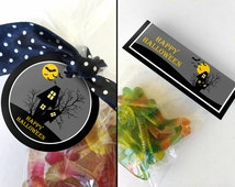 Printable Halloween Favor Tags And Bag Topper, Instant Download Halloween Printables