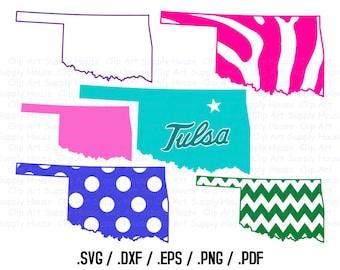 Oklahoma SVG Files, Oklahoma Vector Art, Cricut Design Space, Oklahoma Silhouette Digital Cut Files - CA340
