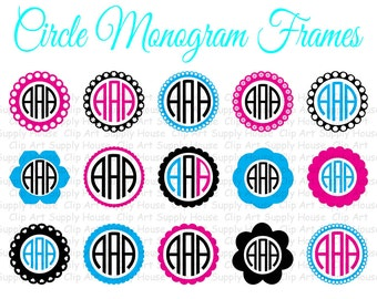 Circle Monogram Frame SVG Cut Files for Vinyl Cutters, Screen Printing, Silhouette, Die Cut Machines - CA160