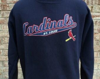 2003 St. Louis Cardinals Navy Large Crewneck Sweatshirt