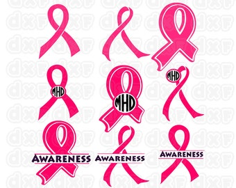 Awareness ribbon svg,dxf,eps,png,pdf,studio cutting files for use with Silhouette Studio and Cricut Design Space.
