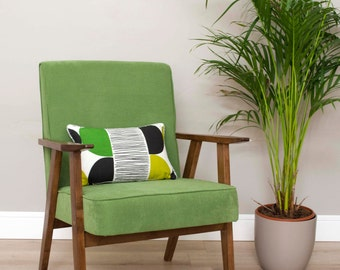 Ditte Midcentury Green Upcycled Armchair