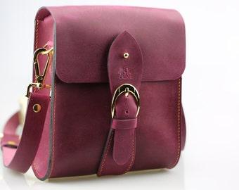 Leather messenger bag, Leather crossbody bag, 100% Handmade Leather shoulder bag
