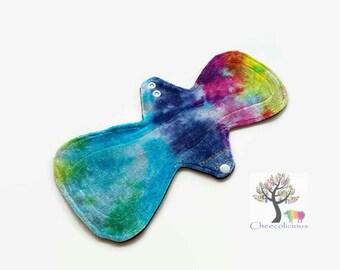 Custom Order Reusable Cloth Pad – Bamboo Velour- Rainbow Swirl - CSP - Cloth Menstrual Pad - Mama Cloth - Windpro Backing