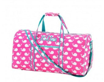 Monogram Pink Whale Duffle Bag