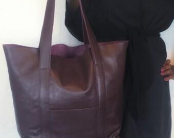 Leather Tote Bag (AeB_05)