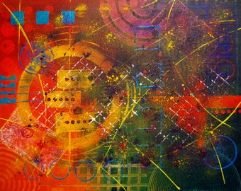 Artifact - Contemporary modern abstract painting