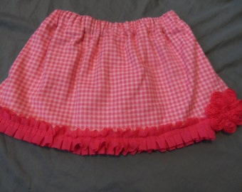 Little girls pink costume play skirt