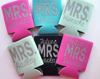 MRS Glitter Can Cooler Future MRS Bride