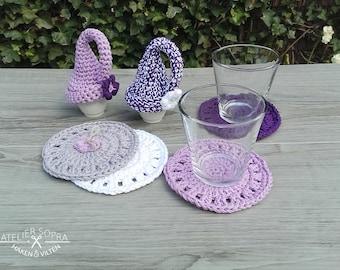 Crochet coaster - Crochet Pattern Coaster - PDF Tutorial