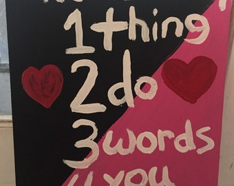3 Words Quote Painting