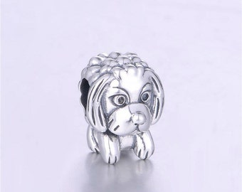 sterling silver charm for bracelets fits authentic pandora and european bracelets puppy dog