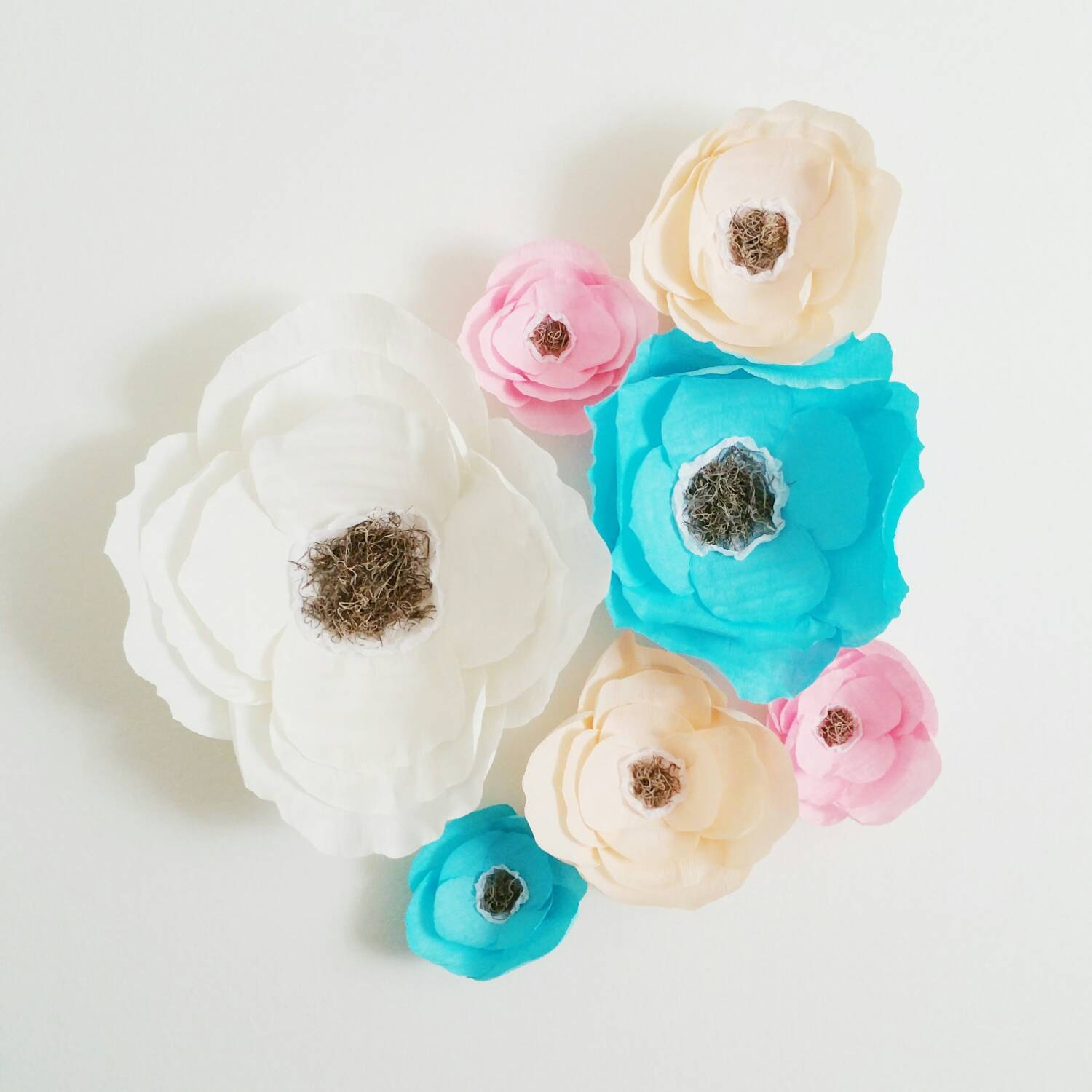 Crepe paper flowers Giant Paper Flowers Boho by ...