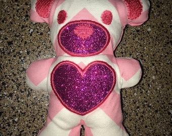 Jaddie Bears Pink ZZ Zig Zag Tula Teddy Teether