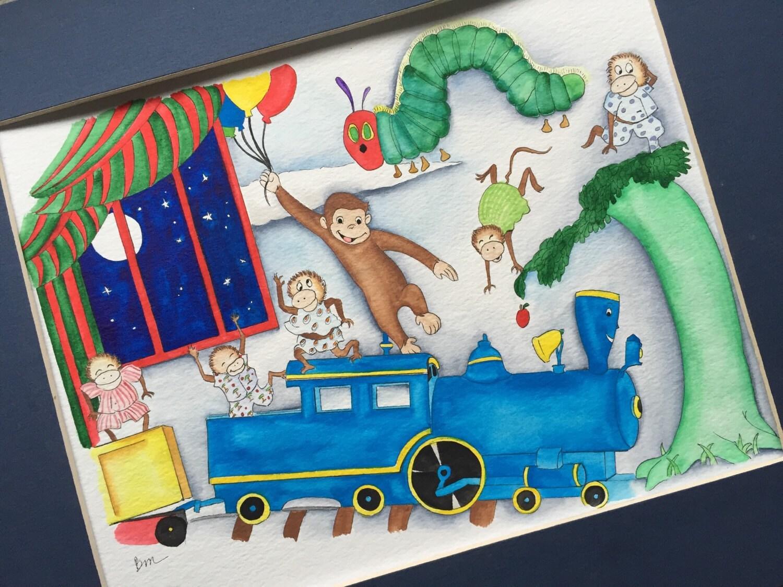 Children's books Nursery Decor. Storybook Nursery Theme.