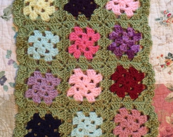 Dolly Granny square blanket
