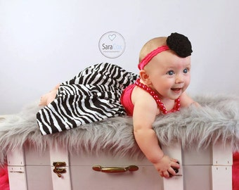 Mommy Miss Lily Dress Photo Prop Hot Pink Zebra