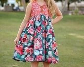 Lucy's Racerback tunic and Dress. PDF sewing patterns for girls sizes 2t-12