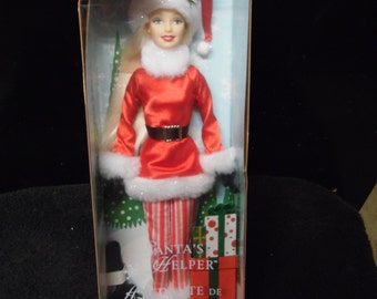Mattel Santa's Helper Barbie Doll