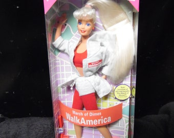Mattel March of Dimes Walk America Barbie vintage New in box