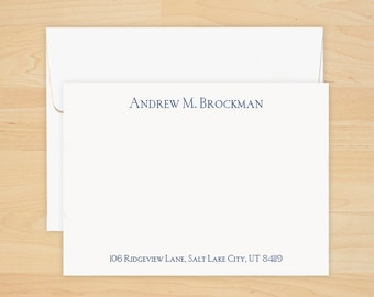 Personalized All-in-One Correspondence Cards - Thermography