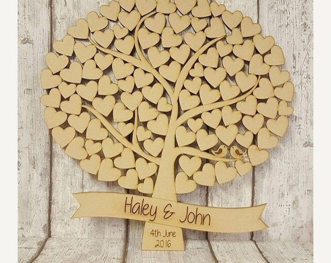 Tree of hearts wedding guestbook alternative