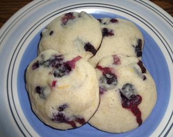 Soft & Fluffy Homemade Blueberry Lemon Cookies (2 Dozen)