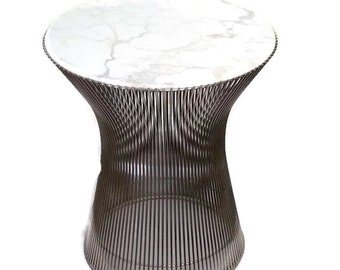 Warren Platner for Knoll Bronze Finish and Marble Side Table Early