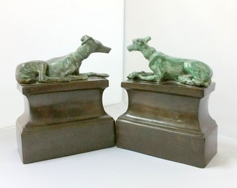 Vintage Maitland Smith Whippet Bookends