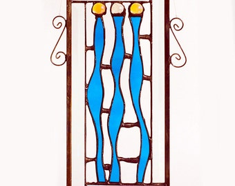 The Supremes Contemporary Beveled Stained Glass Panel / Sun Catcher