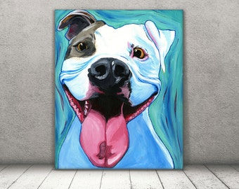 PitBull art - Pit Bull print - Amstaff Art - Dog Pop Art - Pitbull Mom - Dog Canvas - Pit Bull Art - Rescue Dog Art - Pit Bull Gift